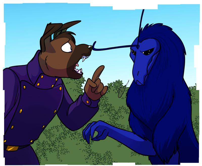 Pete (left) confronting Apollo (right)