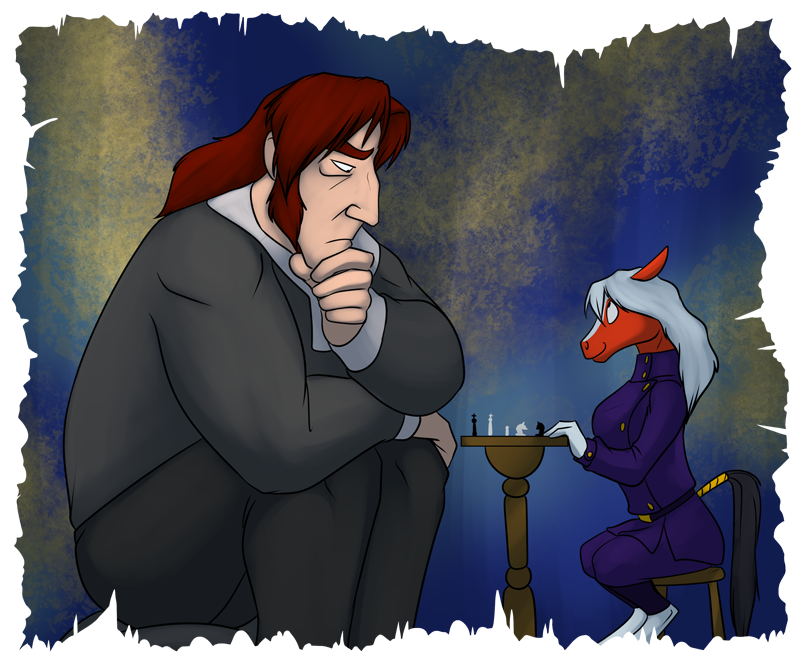 General Tungsten (left) in a friendly game of wits against Tegani (right)